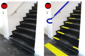 escada acessível