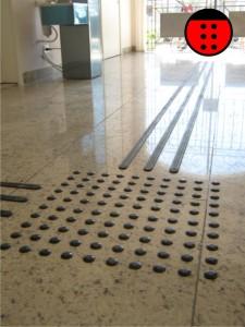 piso tátil fácil