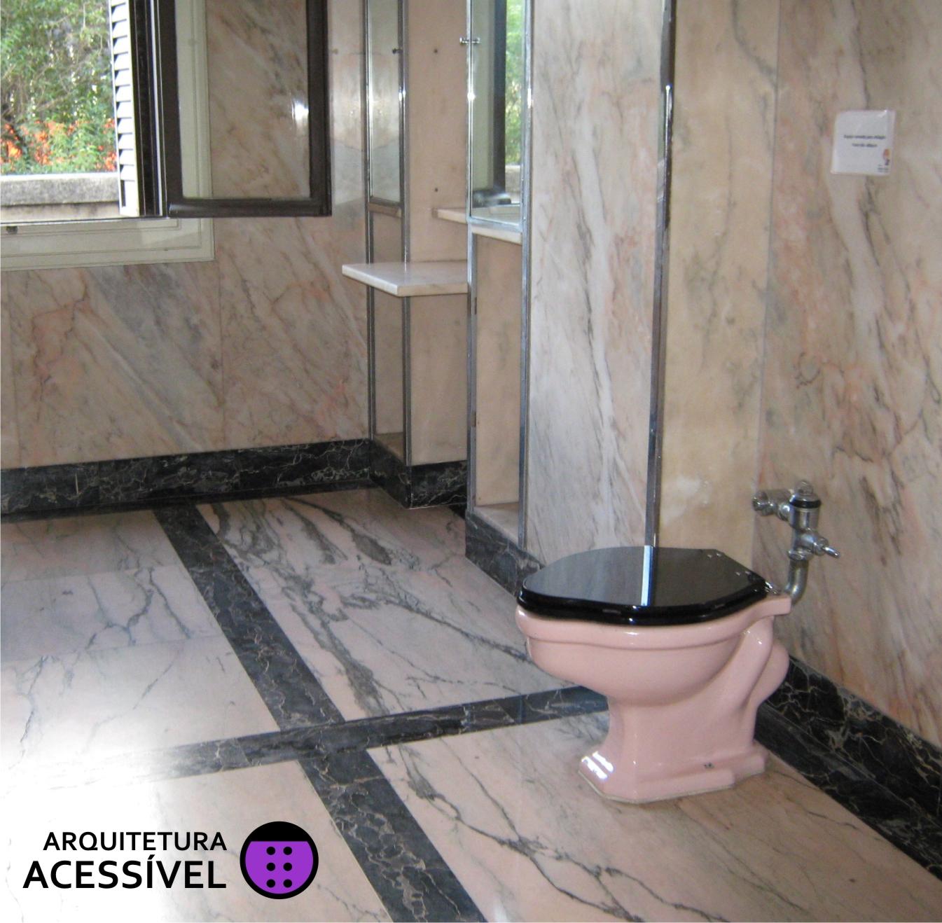 Antigamente… Arquitetura Acessível #5F7A51 1345x1318 Banheiro Acessivel Medidas Minimas