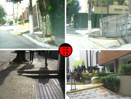 calçada com degrau