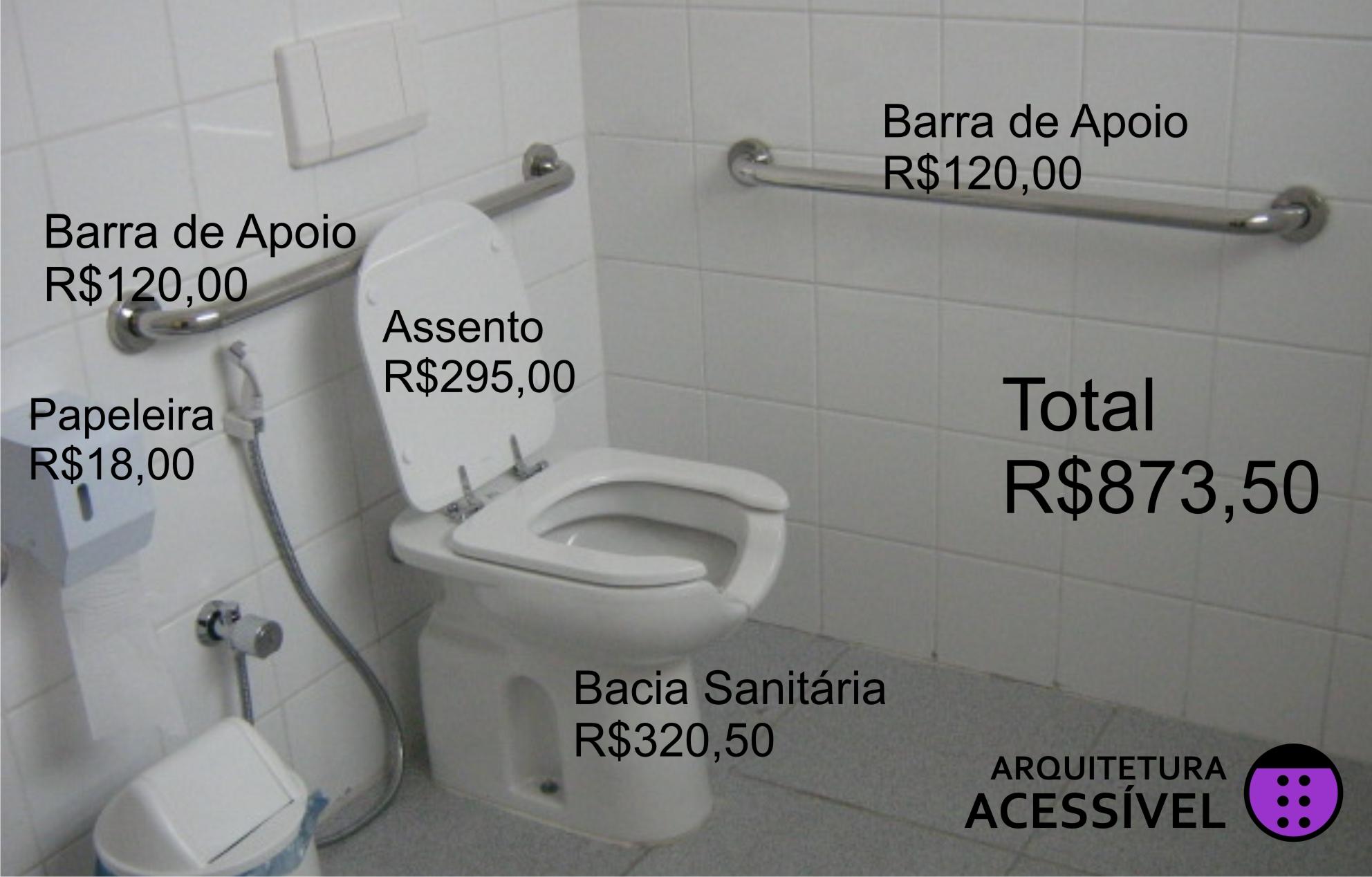 Vou passar os preços de um sanitário adaptado padrão encontrado em  #7B27A4 1984x1268 Acessibilidade Idosos Banheiro