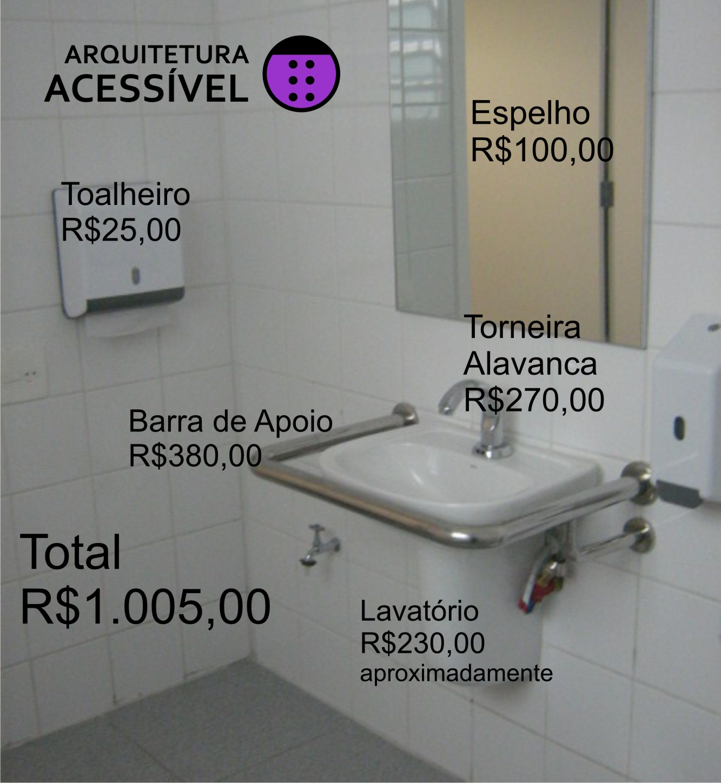 Preço – Sanitário Acessível Arquitetura Acessível #7B28A3 1333 1448