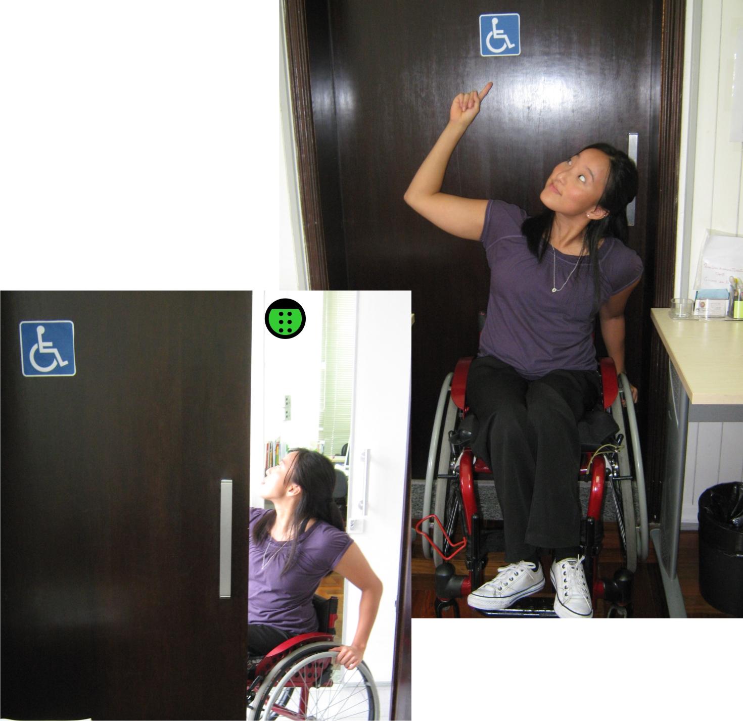adaptado é ótimo pois tem acesso através de duas portas de correr #905B3B 1470x1427 Banheiro Acessivel Pode Ter Porta De Correr