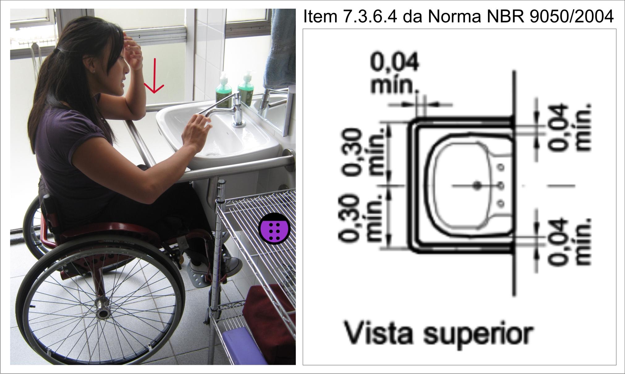 única observação a ser feita é quanto a distância entre a barra  #66463A 2022x1210 Banheiro Adaptado Para Cadeirante
