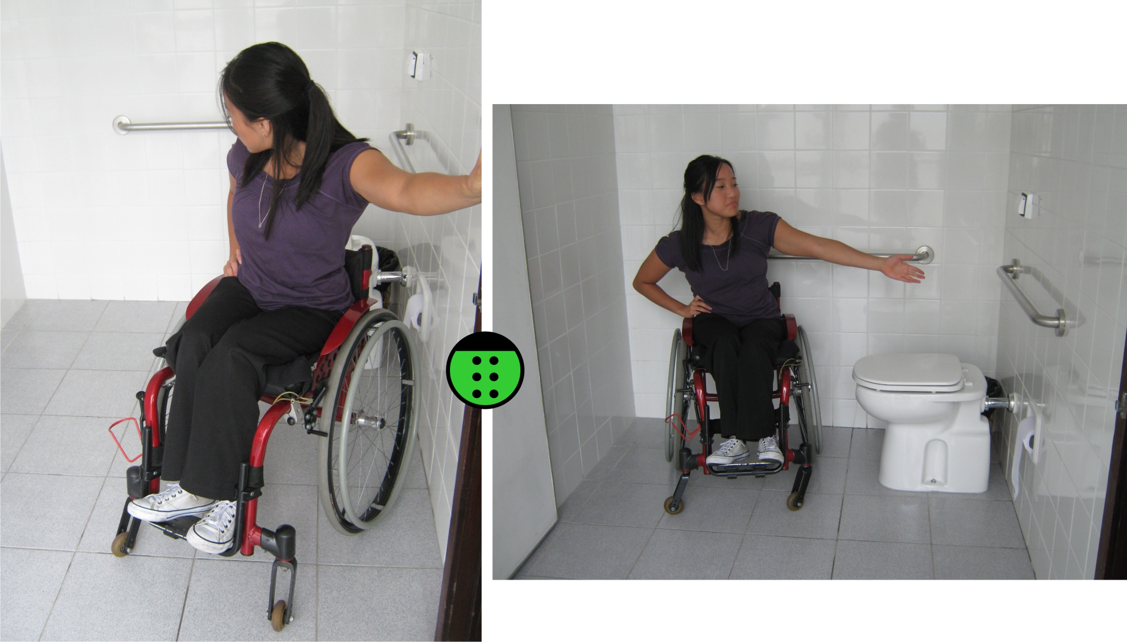 Veja como a Julie tem espaço para manobrar sua cadeira! #27A427 2209 1258