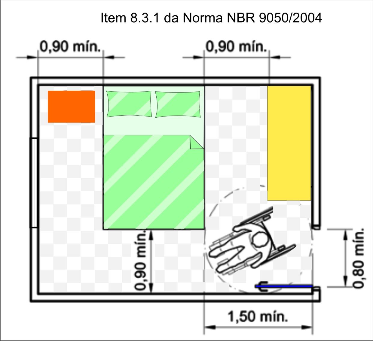 Para não parecer tão técnico eu pintei o desenho da Norma. #CC5100 1241x1136 Banheiro Acessivel Tamanho