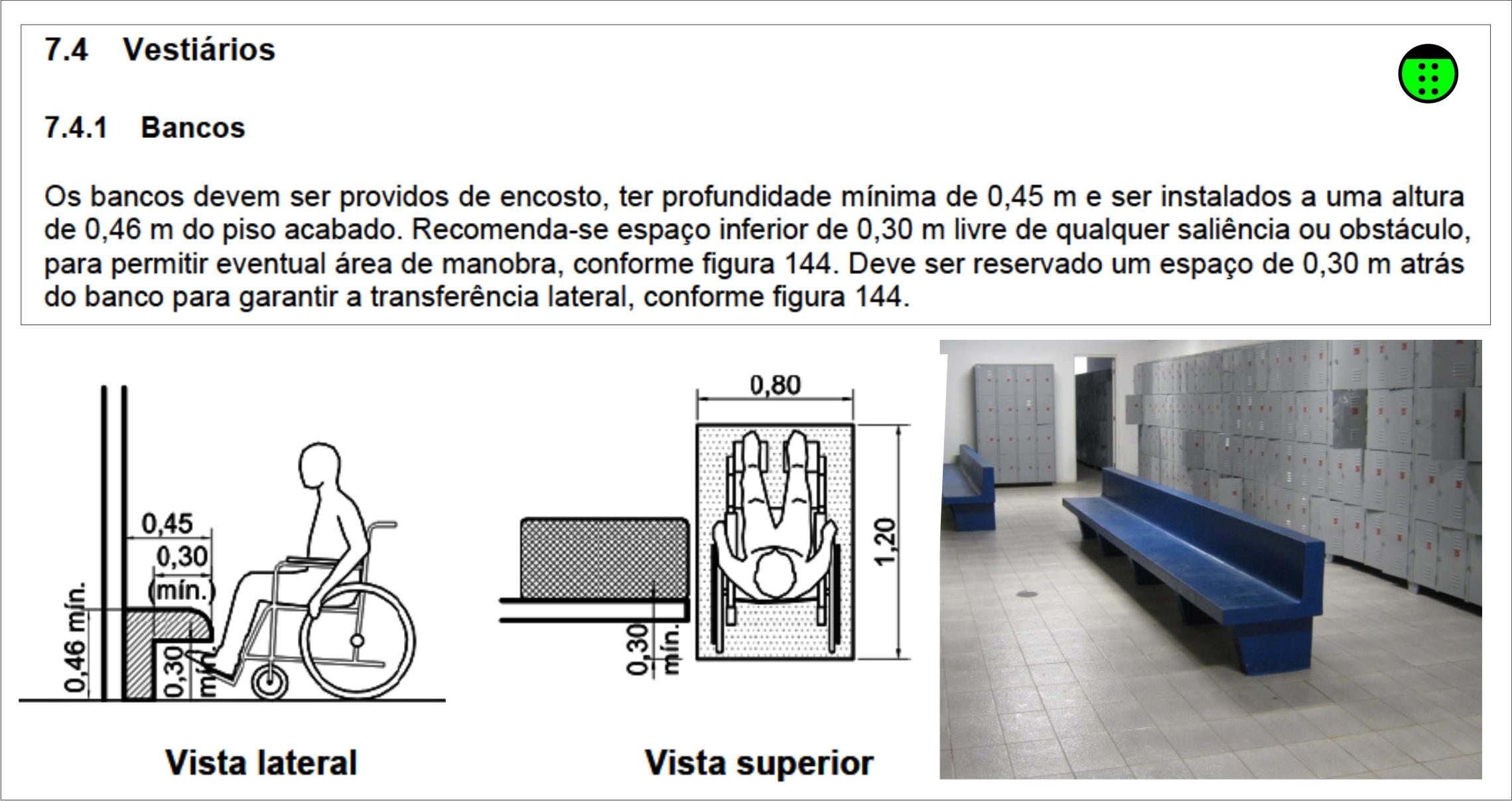 Vestiário e Cabine Individual Arquitetura Acessível #354767 2279 1207