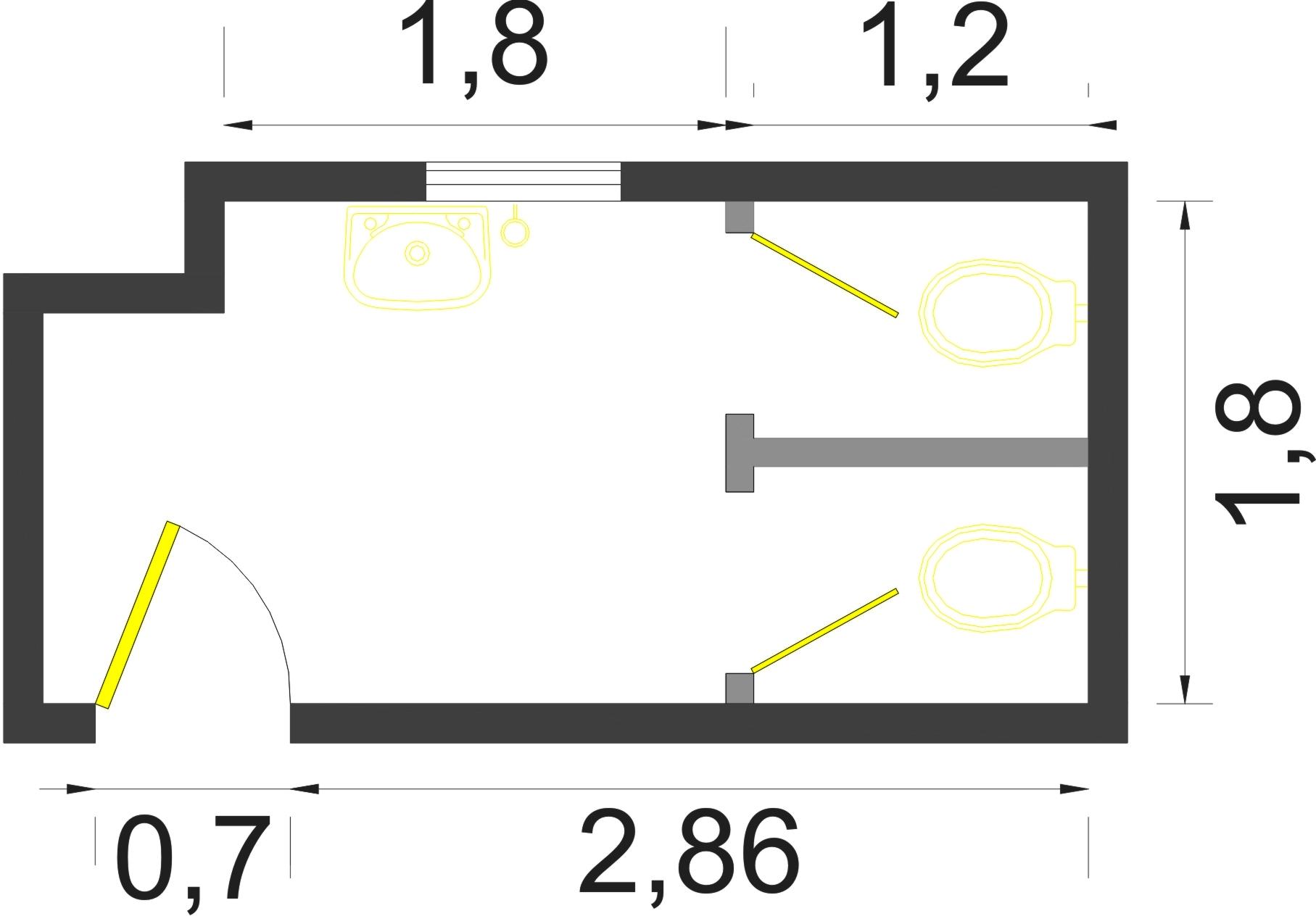 Proposta para um Sanitário ser Acessível Arquitetura Acessível #BEBE0D 1815x1264 Banheiro Acessivel Com Box