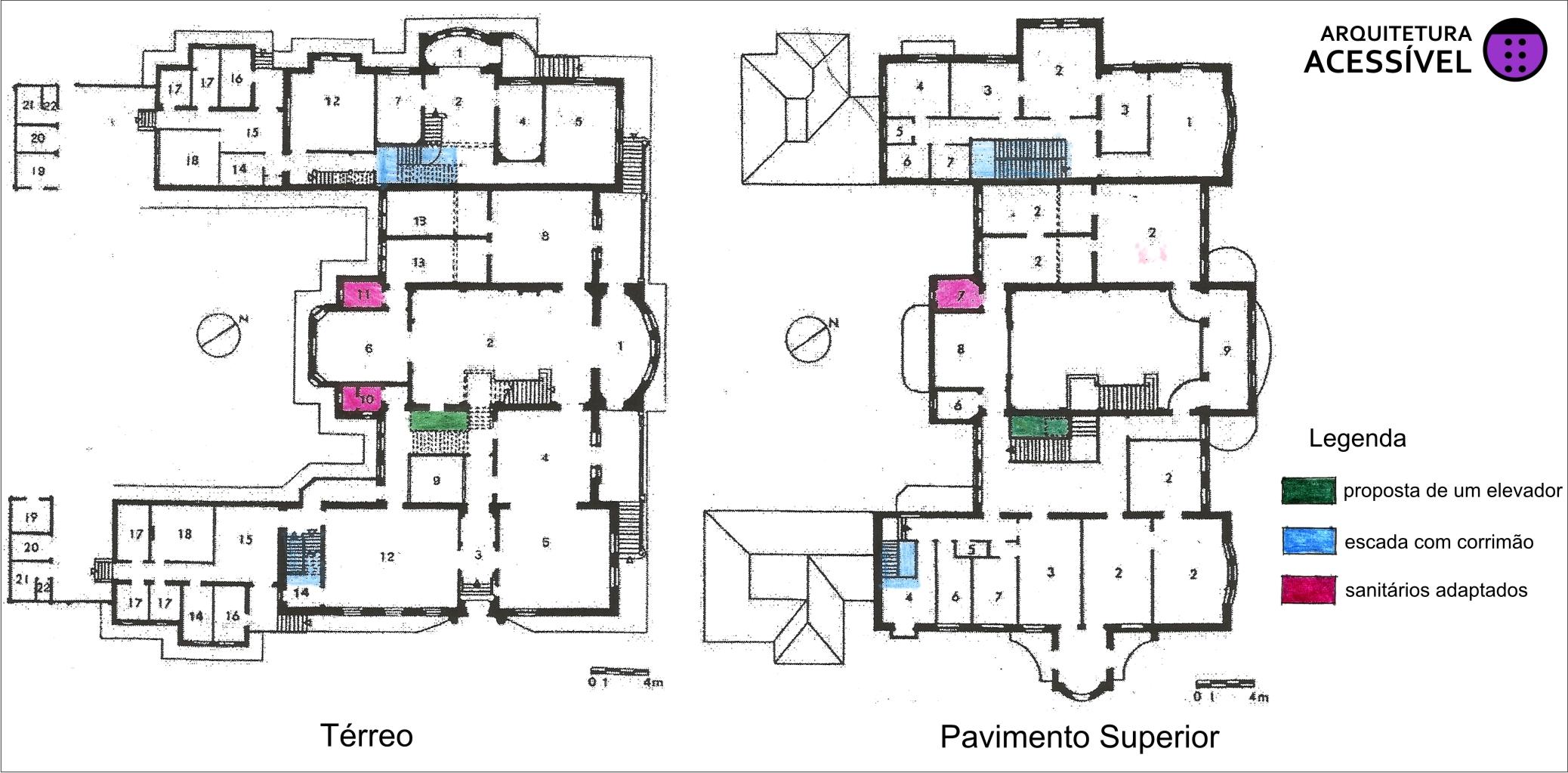 planta do edifício da faculdade de arquitetura da usp vila penteado  #7B28A3 2076x1023 Banheiro Acessivel Planta Baixa
