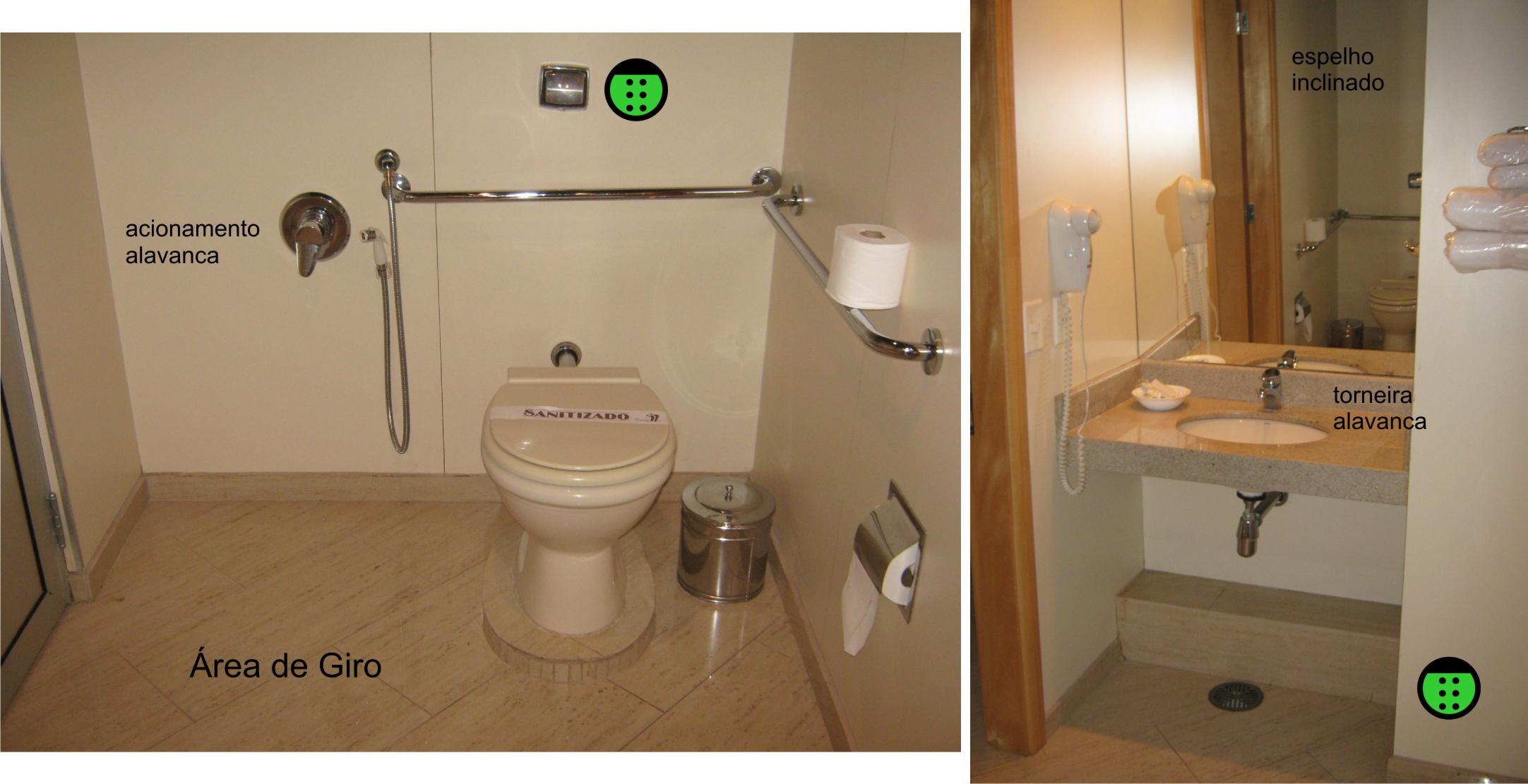 Além do sanitário acessível as portas também são. #26A526 2164 1111