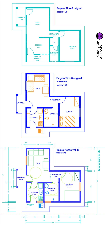 Todos os projetos de habitação popular ou não podem ser  #0608C5 1028x2197 Banheiro Acessivel Planta Baixa