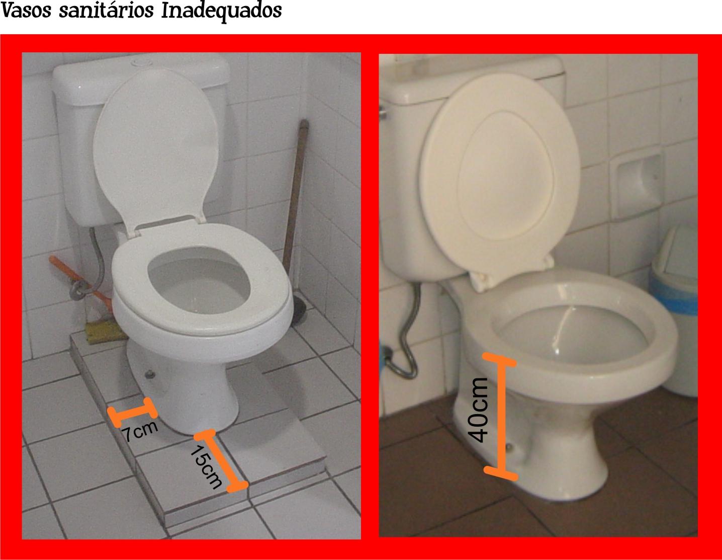 Bacia Sanitária Arquitetura Acessível #C80303 1436 1113