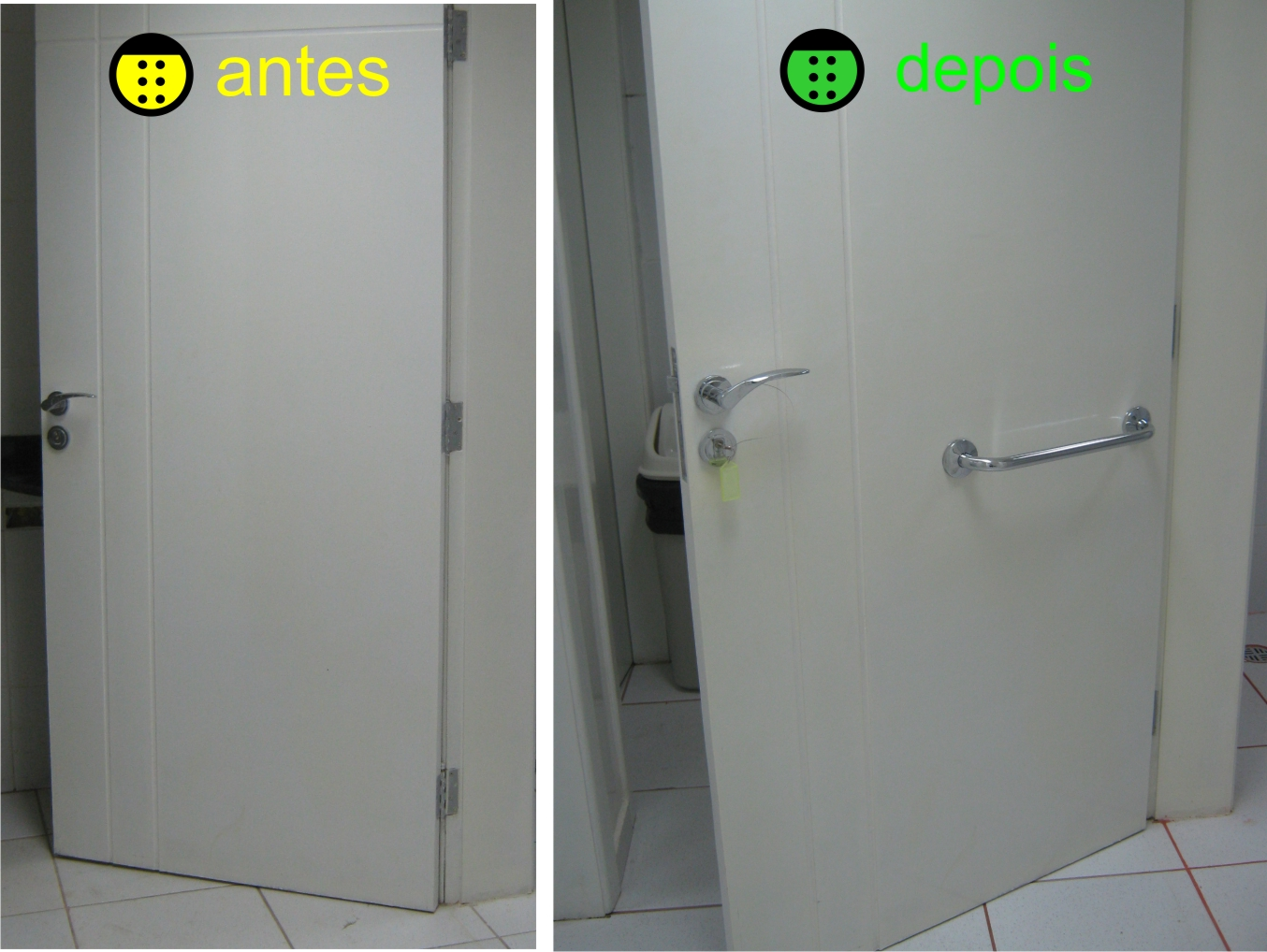 Adaptação de Sanitário Arquitetura Acessível #BEBF0C 1354x1018 Banheiro Acessivel Medidas Nbr