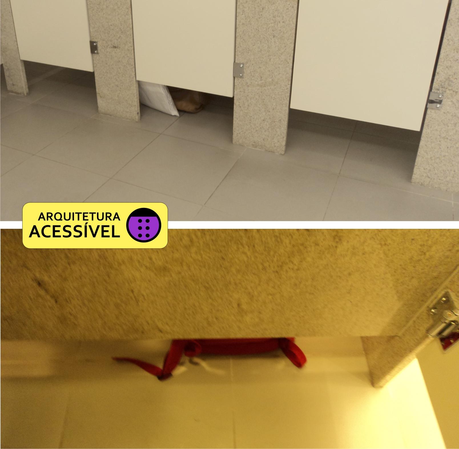 flagra de fora do sanitário mais pessoas deixam suas bolsas no  #6C4917 1608x1572 Banheiro Acessivel Com Pia