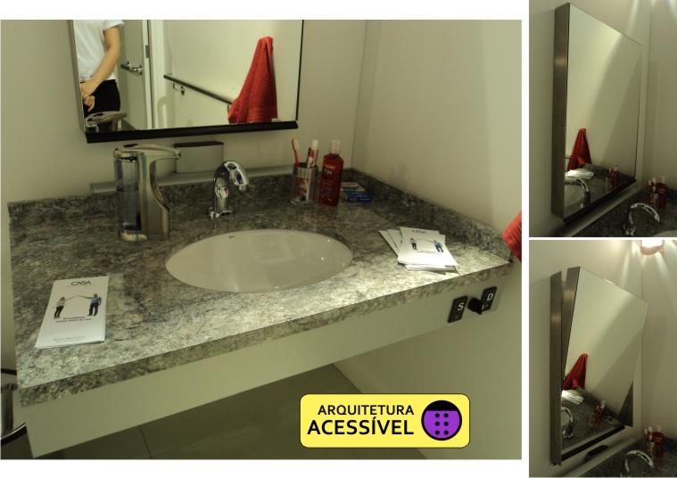 Casa Acessível  Arquitetura Acessível -> Altura De Pia De Banheiro